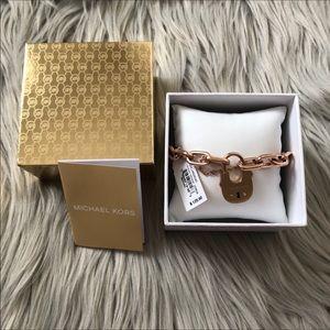 NWOT Michael Kors Padlock Chain Bracelet